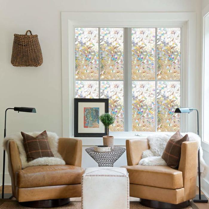 lamina para ventanas estilo vidriera, pegatina de ventana