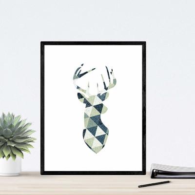 cuadro estilo nordico, ciervo, reno