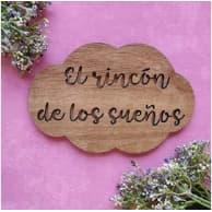 cartel decorativo de madera