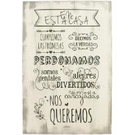 cartel de madera vintage con frases de amor familiar
