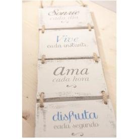 carteles madera frases español