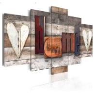 Carteles decorativos pared : Mural de madera grande de estilo vintage para colgar de la pared